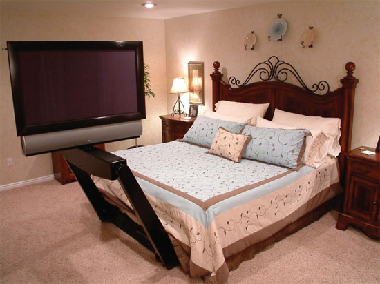 under bed tv mount 28 images cool new under bed flat. Black Bedroom Furniture Sets. Home Design Ideas